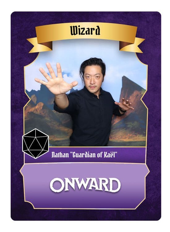 Quests of Yore custom trading card from the Onward movie