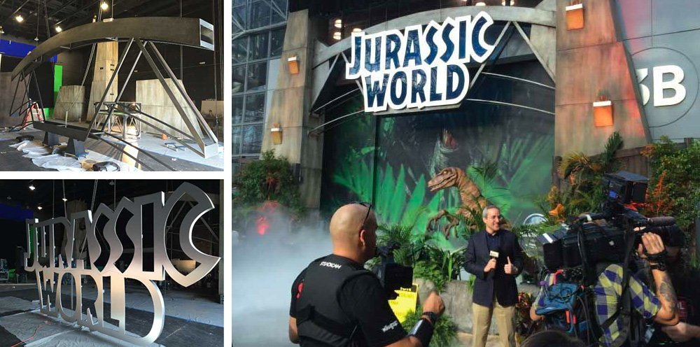 Marketing Genome replicates Jurassic World movie moment with park exhibit