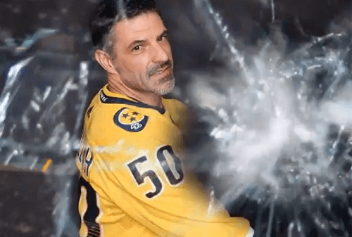 slapshot videos taken at various NHL games during the 2018-2019 season