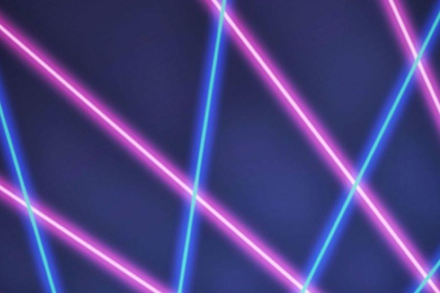 80s retro laser zoom rooms